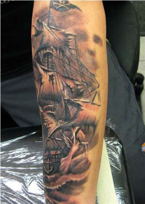 ghost ship tattoo ghost pirate ship designs