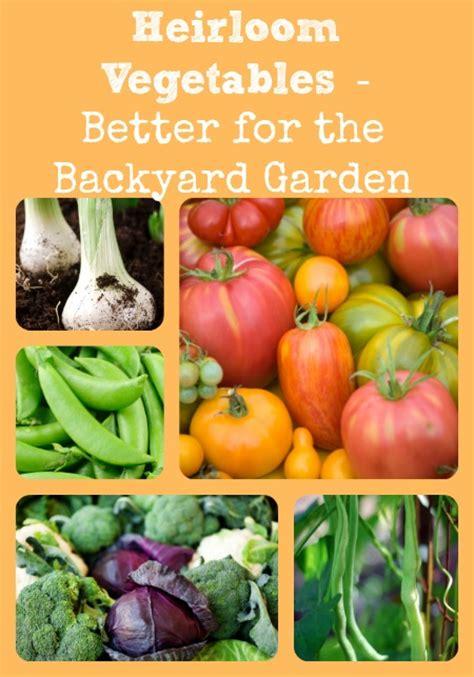 Heirloom Vegetables Better For The Backyard Garden Heirloom Vegetable Gardening