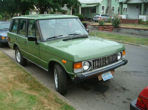 old car owners manuals 2011 land rover range rover sport user handbook buy used 1983 range rover classic original v8 manual transmission low miles rust free in