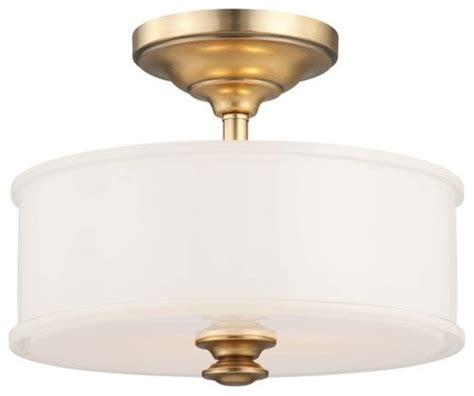 Ceiling Mounted Light Point Harbour Point 2 Light Semi Flush Ceiling Fixture Liberty Gold Transitional Flush Mount