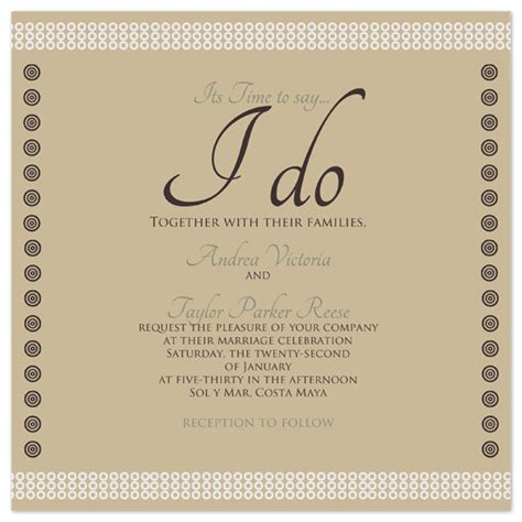 wedding invitations time to say i do at minted - What Do I Say On A Wedding Invitation