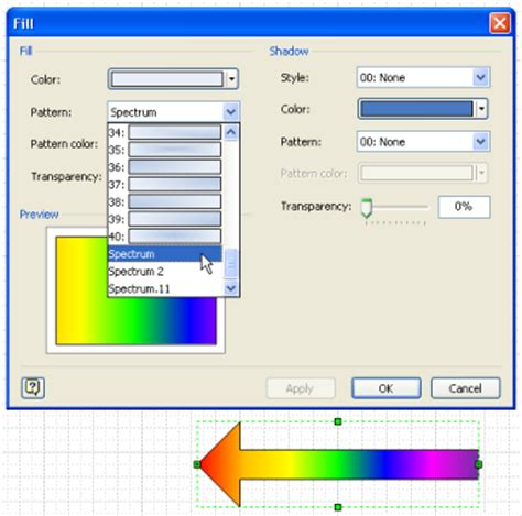 line pattern in visio visio tutorial advanced fill effects visio guy