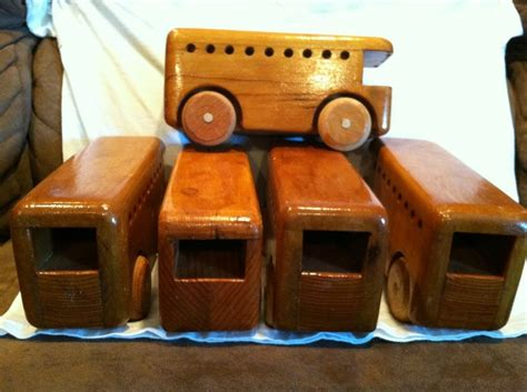 Handmade Toys For Boys - folk 1 vintage handmade wooden car 5 busses for