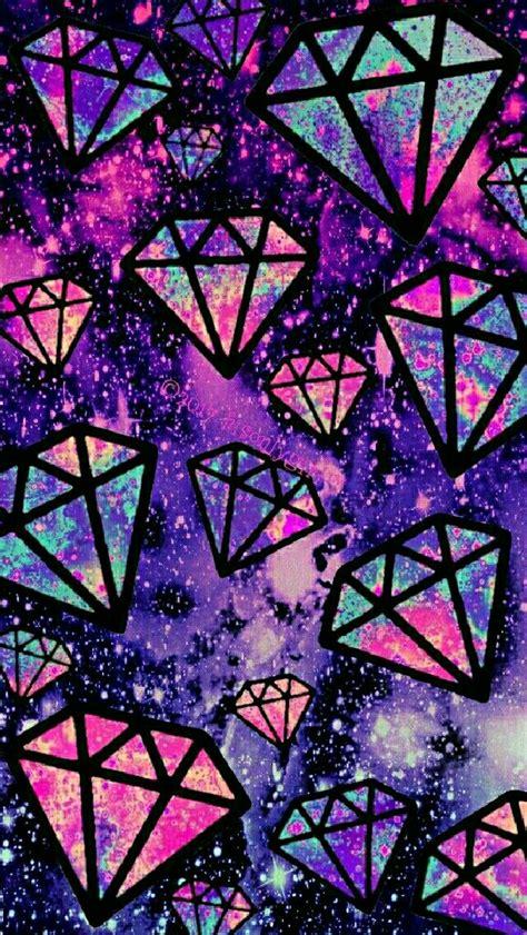 wallpaper galaxy diamond purple falling diamonds galaxy iphone android wallpaper i