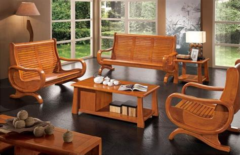 Wooden Living Room Sets Contemporary Living Room Design Ideas With Cool Wooden Sofa Set On Black Floor Iwemm7