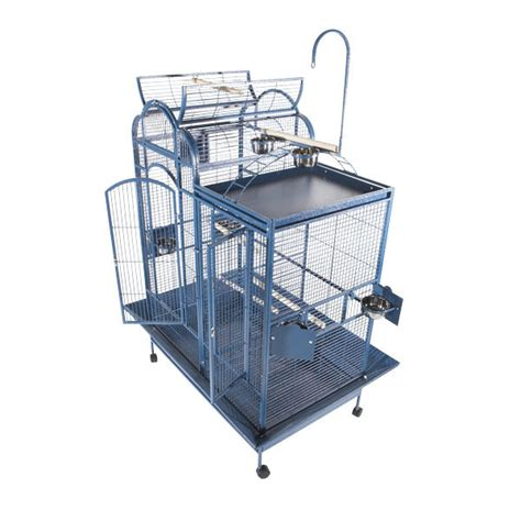 cage with divider split level bird cage with playtop divider