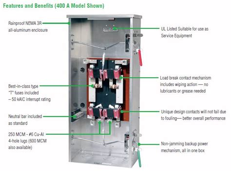 service entrance transfer switch 3 phase wiring diagram