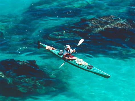 blue wallpaper nz free desktop wallpaper canoe man blue water