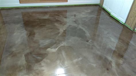 metallic epoxy floors lima ohio elite concrete creations light metalic grey epoxy paint in