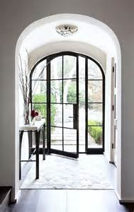 Metal Front Doors For Homes With Glass Picture Of Arched Glass And Steel Front Door