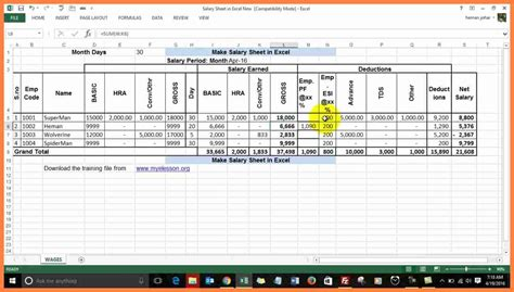 format excel sheet in r 6 excel salary sheet pdf salary slip