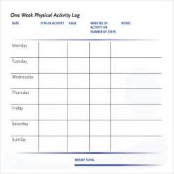 Physical Template For Students by Activity Log Sle 5 Documents In Pdf Word Excel