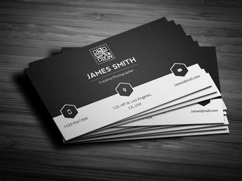 black white minimal business card business card