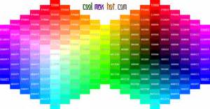 hex colors codes palette chart wheel html hexadecimal triplets