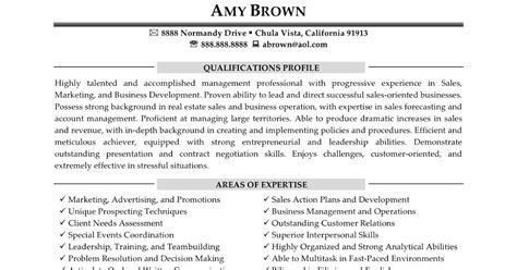 resume sles real estate consultant resume