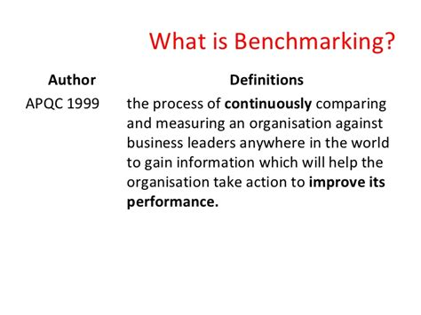 bench manager definition bench marking definition benchmarking