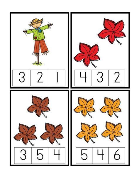 printable number leaves fall preschool worksheets preschool printables autumn
