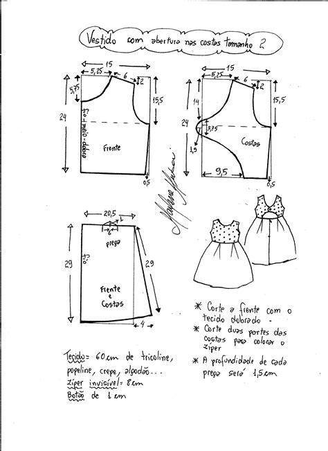 esquema de vestido vestido com abertura nas costas diy marlene mukai