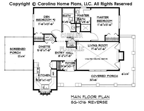 reverse floor plan small cottage style house plan sg 1016 sq ft affordable