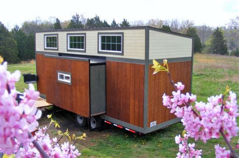 tiny house with slide out baby boomer tiny house with slide outs