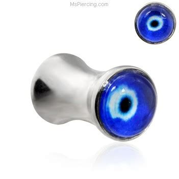 Silver Evil Eye 12 0mm Pendant pair of stainless steel evil eye saddle plugs at