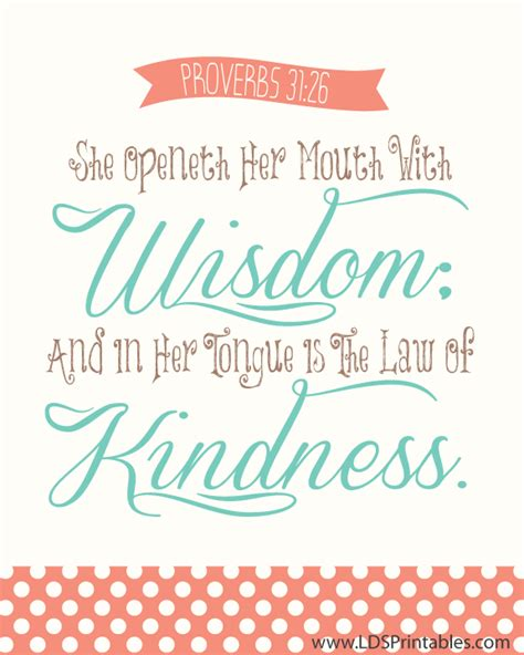 printable lds quotes lds printables she openeth her mouth with wisdom