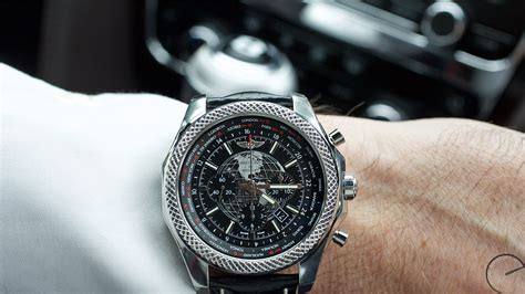 breitling bentley on wrist breitling for bentley b05 unitime world time chronograph