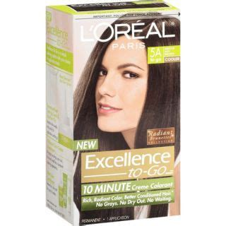 l oreal excellence to go 10 minute creme colorant brown 4 hair color l oreal hair color on