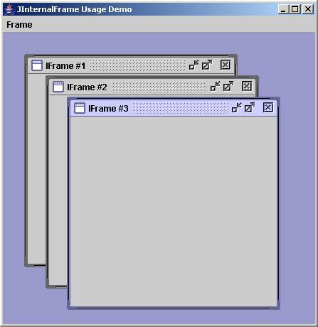 java swing frame java jinternalframe class exle