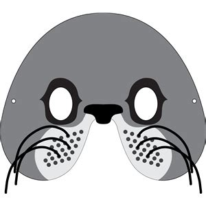 printable seal mask template silhouette design store view design 32907 sea lion mask