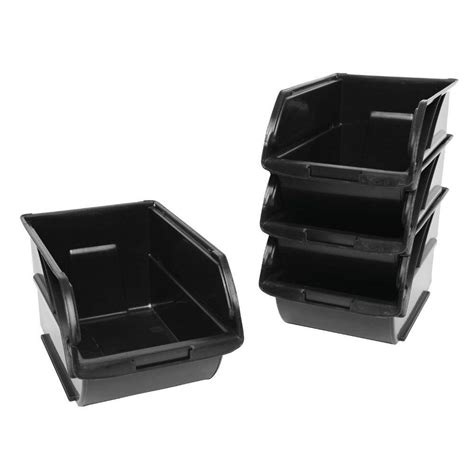 racks plastic bins stanley garage racks 6 in x 12 5 8
