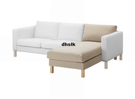 chaise slipcover ikea karlstad add on chaise slipcover cover sivik beige