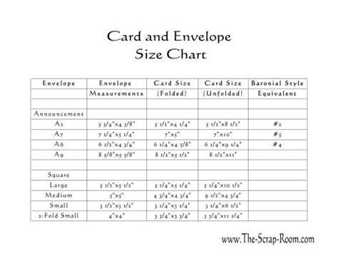 printable envelope guide card andenvelopesizechart