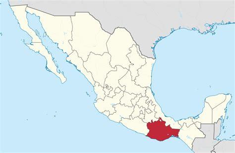 map of mexico oaxaca archivo oaxaca in mexico svg la enciclopedia