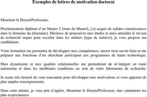 exemples de lettres de motivation master pdf