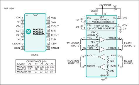 max232 ic pin diagram max232 pin diagram getting ready with wiring diagram