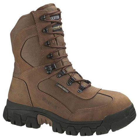 big mens work boots wolverine s big bison insulated tex work boots