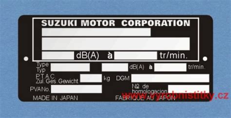 Suzuki Corporation Japan V 253 Robn 237 št 237 Tek Suzuki Motor Corporation Japan Buchta R