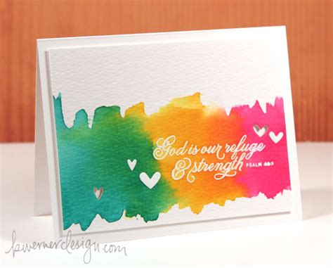 make a card monday watercoloring with re inkers make a card monday 246