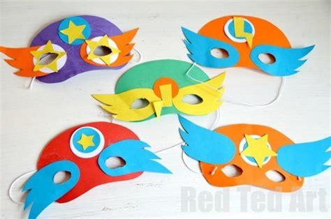 superhero masks template party activity