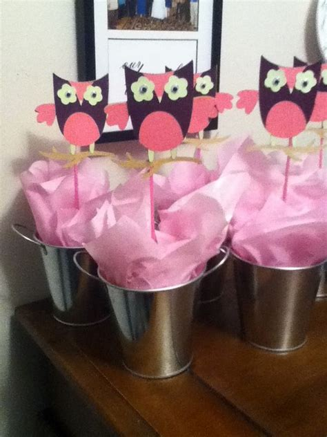Cricut Owl Baby Shower by I Made These Centerpieces For A Baby Shower Using My