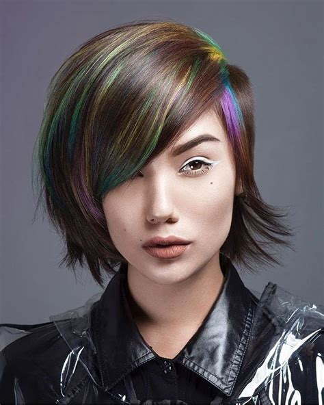 shaved side and side swope bang women s side shaved undercut pixie bob with full side