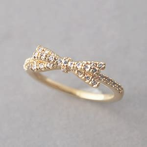 cz gold bow ring us 6 25 on luulla