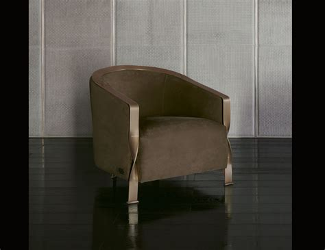 Kaos Brown Arm nella vetrina rugiano cc8 arm chair in brown velvet
