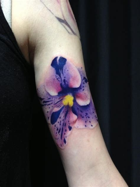 watercolor tattoo germany flor violeta violet violets and africans