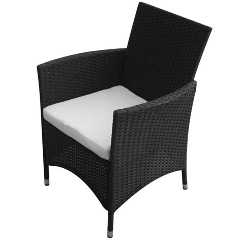 Wicker Outdoor Dining Chairs 2x Pe Rattan Wicker Outdoor Dining Chair In Black Buy Outdoor Dining Chairs