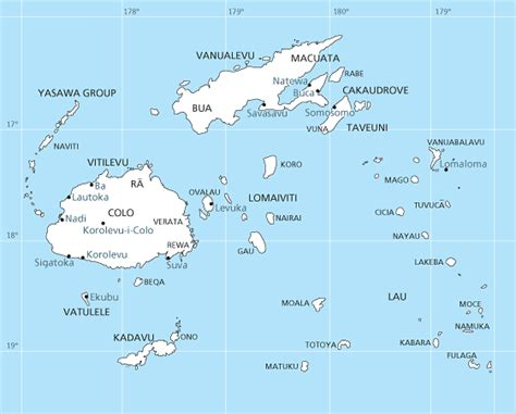 fiji islands map fiji s treasured culture map of the fiji islands