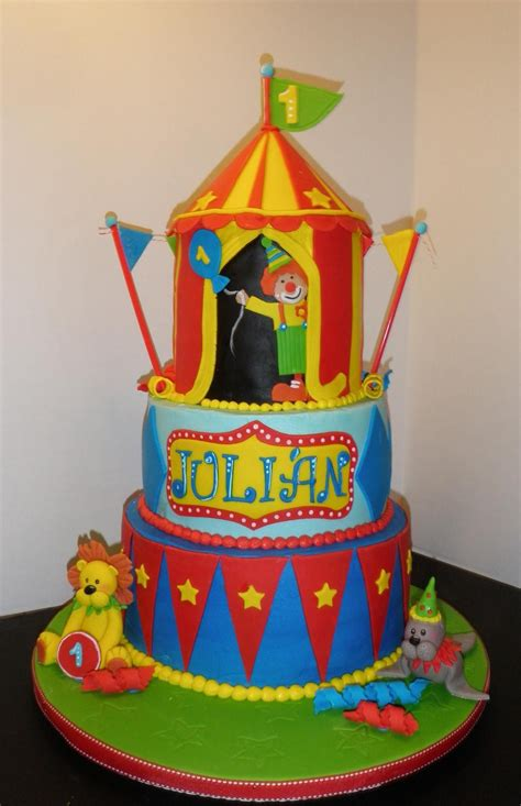 carnival themed cakes a fun circus themed first birthday cake sweet traditions