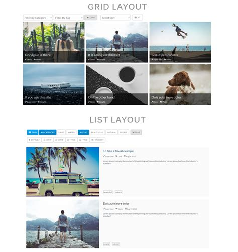 joomla category blog layout module mashup responsive grid content module for joomla cracked