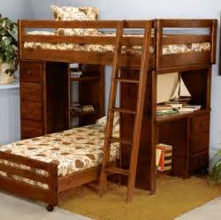 Bunk Bed With Desk Solid Wood Frame L Shape Bunk Beds With Stairs Home Interior Exterior
